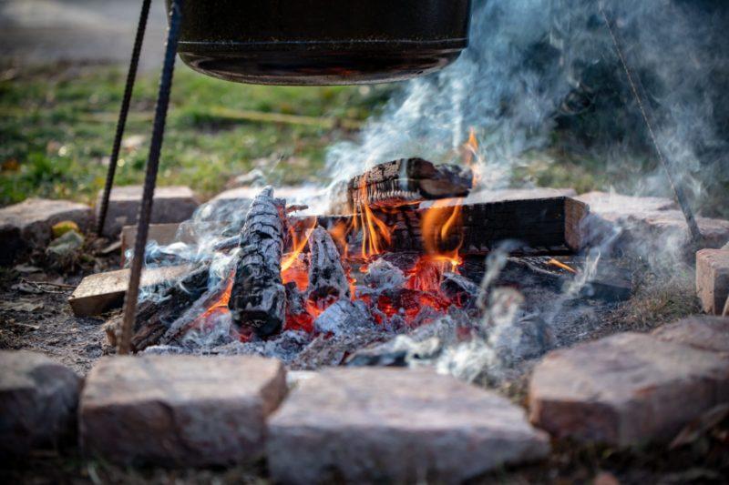 Glühwein-Feuerstelle