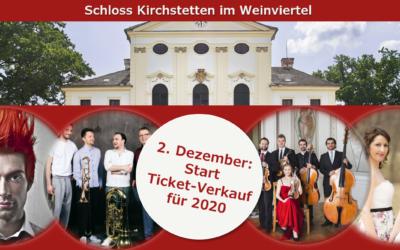 2. Dezember: Start Ticket-Verkauf für 2020