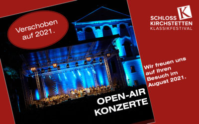 Verschiebung der Open-Air-Konzerte auf August 2021