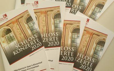 SchlossKonzerte 2020 – gemütlich, hochkarätig & VIEL Platz!
